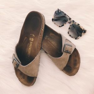birkenstock madrid one strap birkibuc sandals